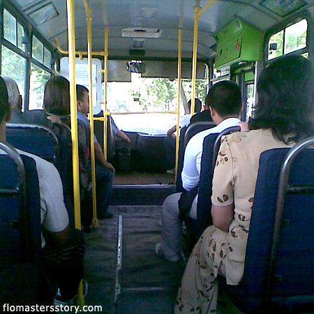 Интерьер в автобусе