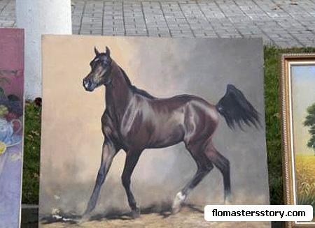 кони на холсте