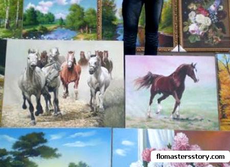 кони на картинах