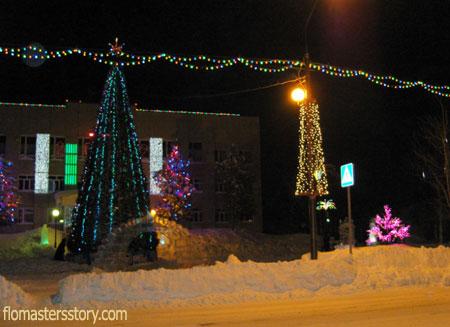 зимняя ночь на Сахалине