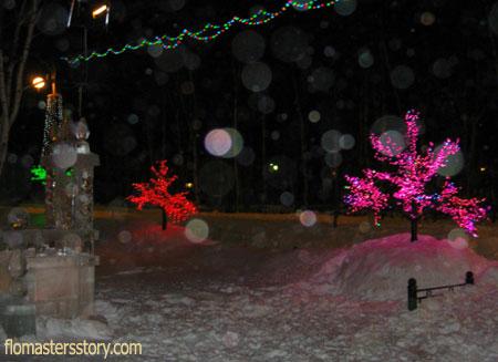 веселые зимние огоньки