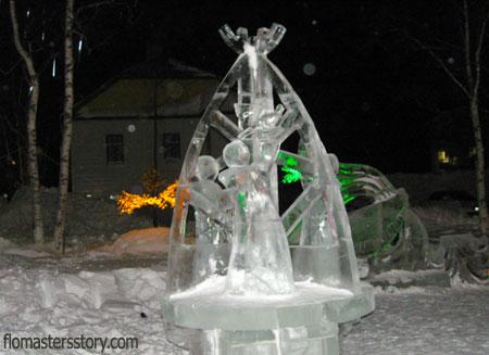 ледяные скульптуры на Сахалине