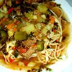 лагман, блюдо узбекской кухни