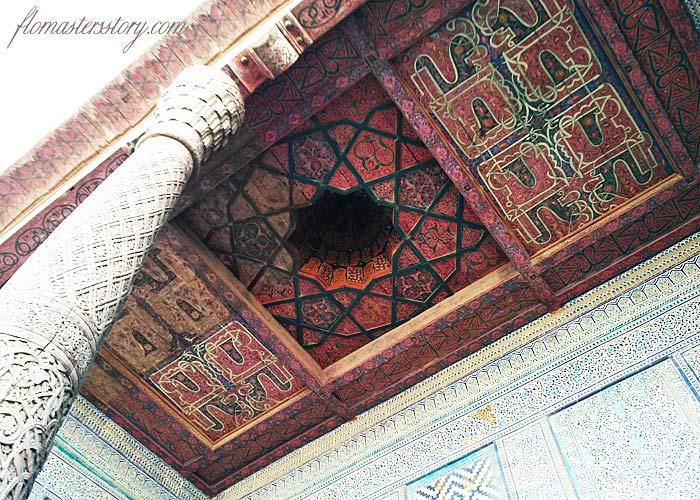 потолок росписной