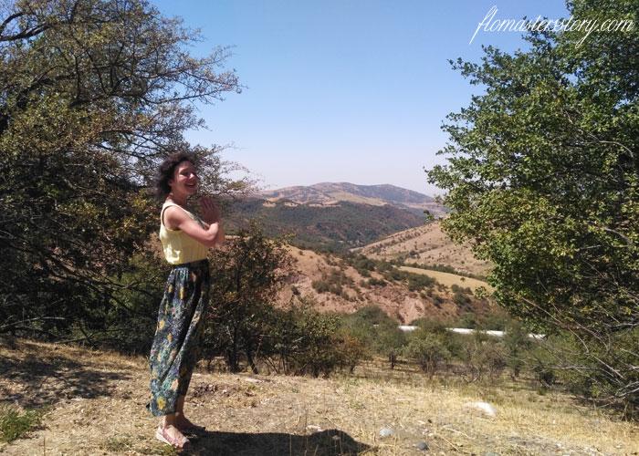 в горах Чимгана