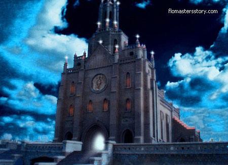 Обработка в фотошопе фотографии ташкентского костела