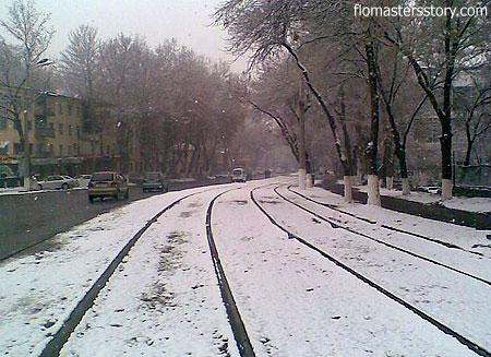 ташкентские улицы в снегу