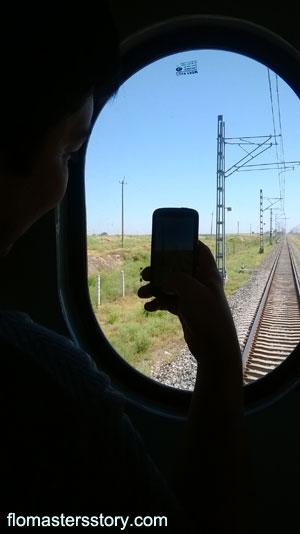 на поезде в Бухару