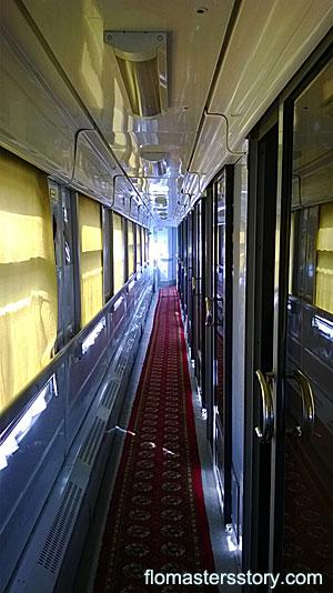 в вагоне поезда Тащкент-Бухара
