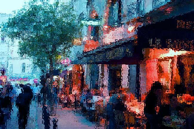 улицы вечернего Парижа