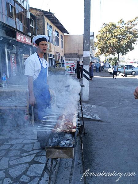 приготовление шашлыка