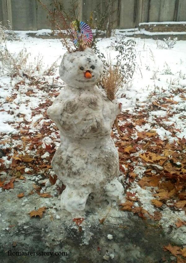 страшный добрый снеговик
